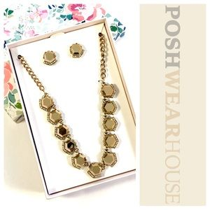 Jewelry - Copper & Crystal Earring & Necklace Set